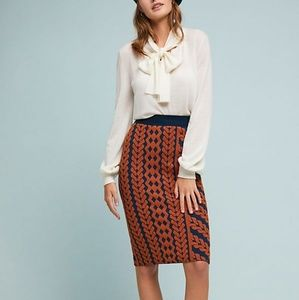Anthropologie Geometric Pencil Skirt by Maeve